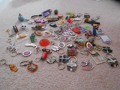 Job Lot Of 72 Collectable Key Rings