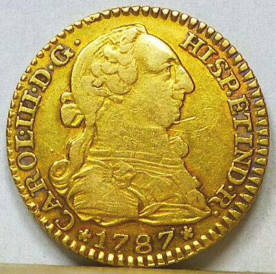 Spain Gold Escudo 1787 M-DV Very Fine