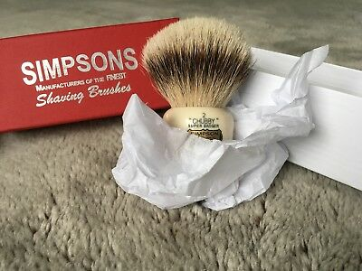 Simpsons 'Chubby 2' Super Badger Shaving Brush c/w box USED Great condition