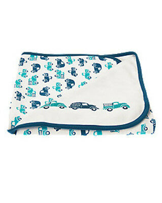 NWT Gymboree Boys Newborn Essentials Blue Car and Truck Blanket