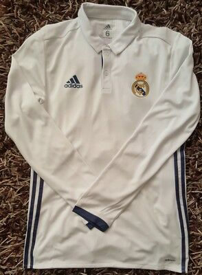 Real Madrid 6 Match un Worn player issue shirt Ronaldo Home LS Adizero Spain