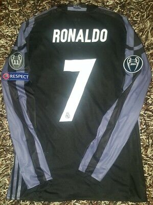 Ronaldo MATCH WORN Real Madrid CL shirt Portugal LS Messi player issue Adizero