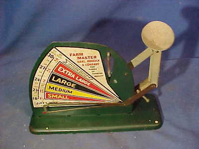 1930s FARM MASTER Metal Lithograph EGG SCALE from SEARS + ROEBUCK