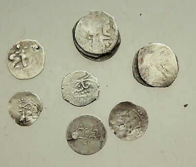 L6 Lot 7x Silver Coins Ottoman Islamic Empire D=10-14mm 5,7g