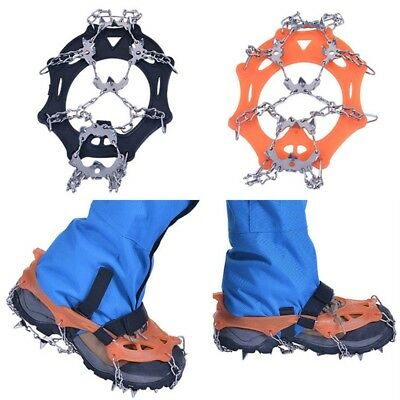 Newest 19 Teeth Crampons Durable Chain Cleats Outdoor Safety Hiking Equipment