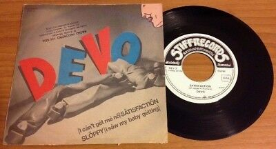 """DEVO / (i can't get me no) SATISFACTION - 7"""" (Italy 1978) RARE !!!"""