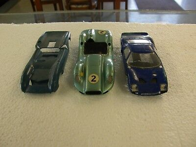 COLLECTION LOT USED 1960's SLOT RACE CAR BODIES #2