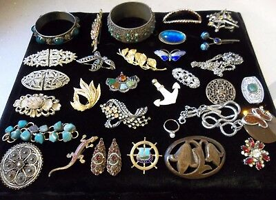 A Large Mixed Lot Of Vintage Costume Jewellery