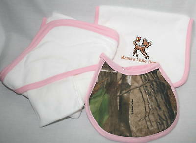 Realtree Camouflage & Pink 4Pc Baby Towel Gift Set