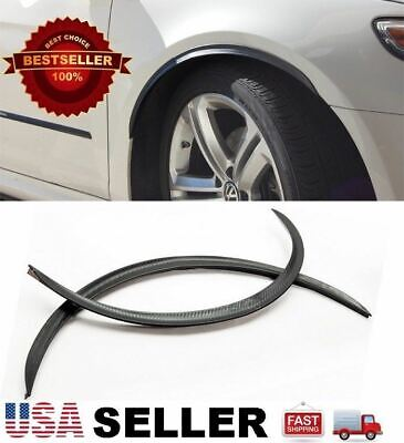 """2 x 29"""" long Wide Arch Fender Flare Extension Carbon Protector For Hyundai Kia"""