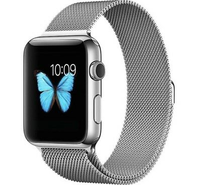 Milanese Magnetic Stainless Steel Mesh Strap Band For Apple iWatch Silver 42mm
