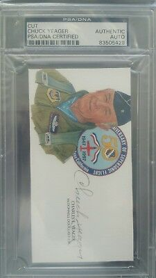 Chuck Yeager Autograph PSA/DNA Authentic!