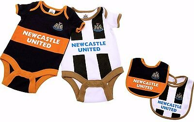 Newcastle United Fc Babies Body Pram Suit Short Sleeve Baby Grow Vest Nufc Utd