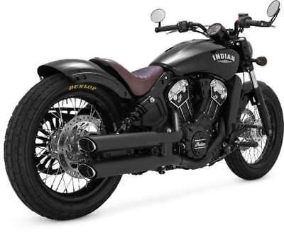 VANCE & HINES TWIN SLASH 3in SLIP-ONS EXHAUST INDIAN SCOUT 2015-2018