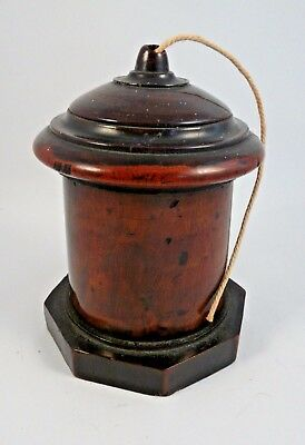 Antique Lignum Vitae string box- early 19th century. Large size- Rich patina.