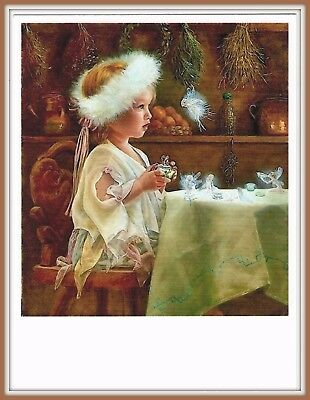 Fantasy TEA PARTY with Fairies KIDS IN ART Little Girl FAIRY Postcard modern