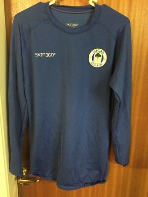 Men's Blue Wigan Athletic Skin 360 Size Large right Fitting Long Sleeve Lot 1003
