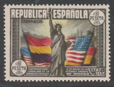 1938.Sello Constitución de los EEUU.1 Pta multicolor. MH. *Ed:763.P.Cat:33€