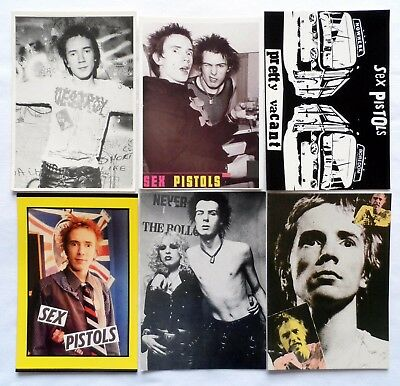 SEX PISTOLS POSTCARDS 6 x Vintage Sex Pistols Postcards * PUNK *