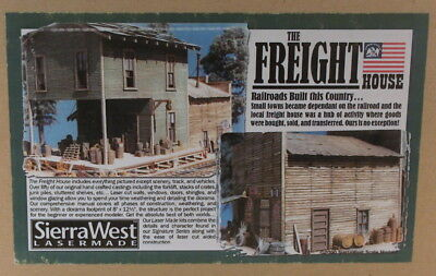 """HO HOn3 CRAFTSMAN SIERRA WEST LOGGING """"THE FREIGHT HOUSE KIT """" NEW"""