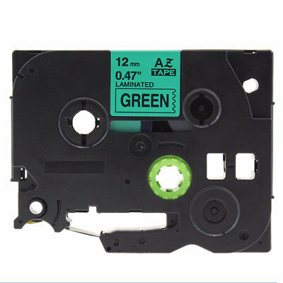 Black on Green Label Tape Compatible for Brother TZ 231 TZe 231 P-Touch Mark 1PC