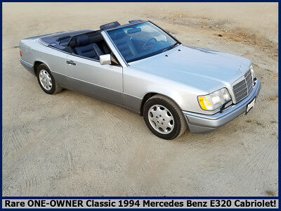 1994 Mercedes-Benz E-Class E320 RARE COLLECTIBLE 1994 MERCEDES BENZ E320 CABRIOLET! 1-OWNER CALIFORNIA CLASSIC!