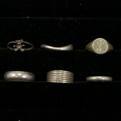 Sterling Silver - Lot of 6 Solid & Gemstone Rings Resell NOT SCRAP - 20g
