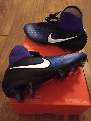 Brand New Nike Jr Magista Obra Ii Fg Football Sock Boots Uk Size 5 844410-015