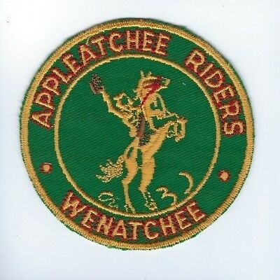 Appleatchee Riders Wenatchee Washington horse lovers equestrian club patch - NEW