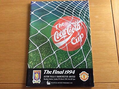 1994 Coca Cola Cup Final. Aston Villa v Man Utd.   @ Wembley