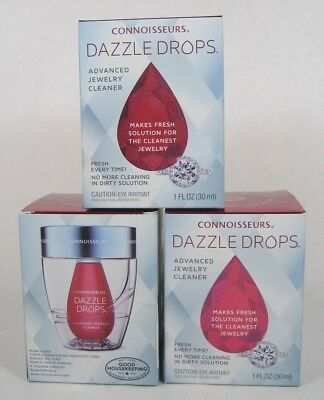 Connoisseurs Dazzle Drops Advanced Jewelry Cleaning Kit For Gold
