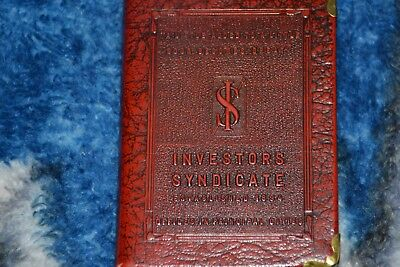 Vintage Investors Syndicate Book Bank Coin Safe Zell Prods Co Ny No Key