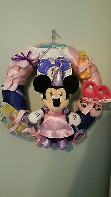 Baby Shower Wreath Minnie Mouse