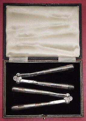 Antique Pair of Silver Plate Nutcrackers - Boxed