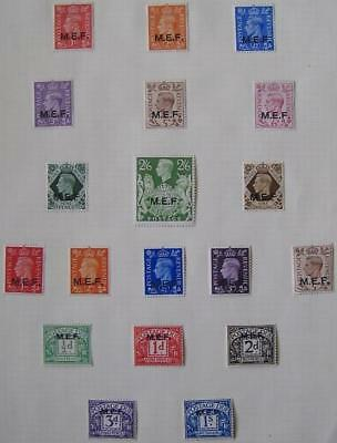 GVI Brit Occ. of Ital. col. overprint sets, fine m/mint
