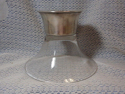 Mid Century Modern Allan Adler Sterling Silver & Glass Candle Holder
