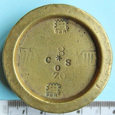 Victorian brass 8 oz weight, Westminster and the Isle of Wight