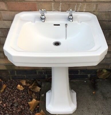 Trent Toilet And Large Sink White Used