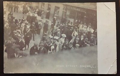 Dingwall Easter Ross - High Street Showing Tolmie Shopfront Busy Scene p/u 1906