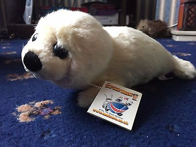 White cuddly-toy Seal Brand New With Labels A Nice Gift! A Nice Stocking Filler