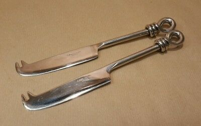 Pair Culinary Concepts London Stainless Steel Cheese Knives Twisted Knot Design