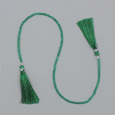 15cts Green Onyx Micro Faceted Round Beads Approx 3mm 29cm Strand