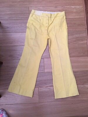 Vintage Jeff Banks Flares Yellow Fancy Dress Dressing Up 70S Must Have Look