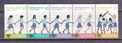 Christmas Island 1979 International Year of The Child UM Strip of 5 Cat £1.25