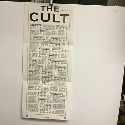 "The Cult. ""History""  1989  promo poster"