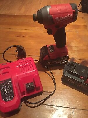milwaukee 18v impact driver With 2 X 5ah Batteries And Charger