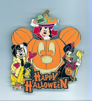 Disney Halloween Minnie Cruella Pluto Scar Donald Jafar Mickey Hook Jumbo Pin