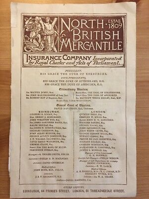 Old North British & Mercantile Pamphlet
