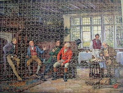 """Vintage Victory  800 Piece  """" A Tall Story """" Old Wooden Jigsaw Puzzle"""