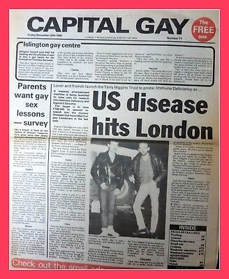 Capital Gay 1982 Photo AIDS LGBT Divine Interest Queer History 6x4 Newspaper